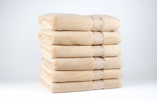 Towel To Gau, Zwirnfrottier Badetuch 70x140 / beige(Frosted Almond) / 6